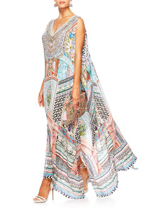CAMILLA LADY LAKE SPLIT FRONT & SLEEVE KAFTAN