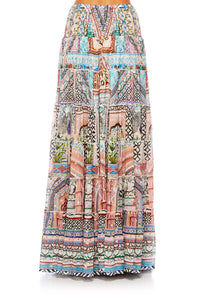 CAMILLA LADY LAKE TIERED HEM MAXI SKIRT