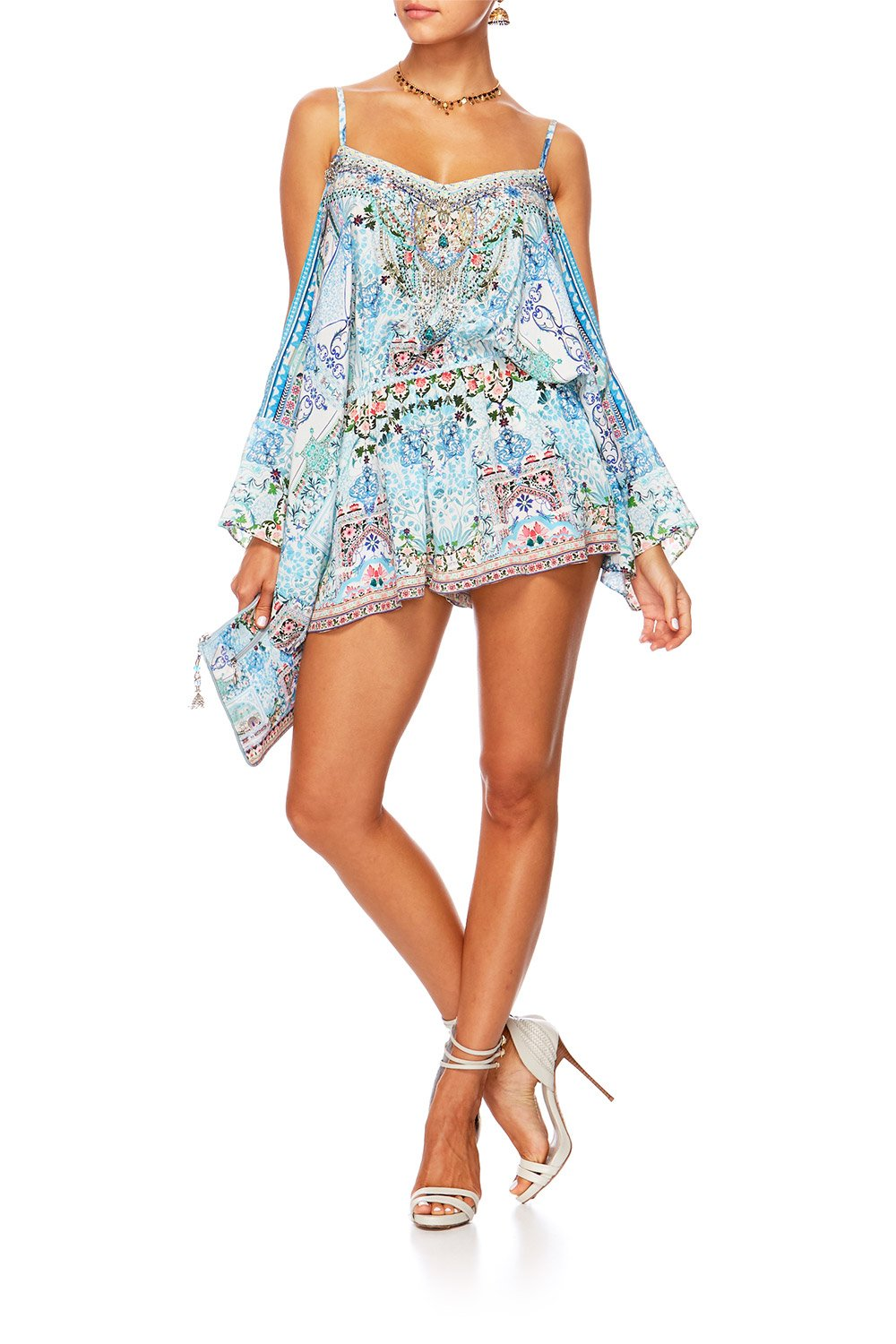 LOVERS RETREAT DROP SHOULDER PLAYSUIT