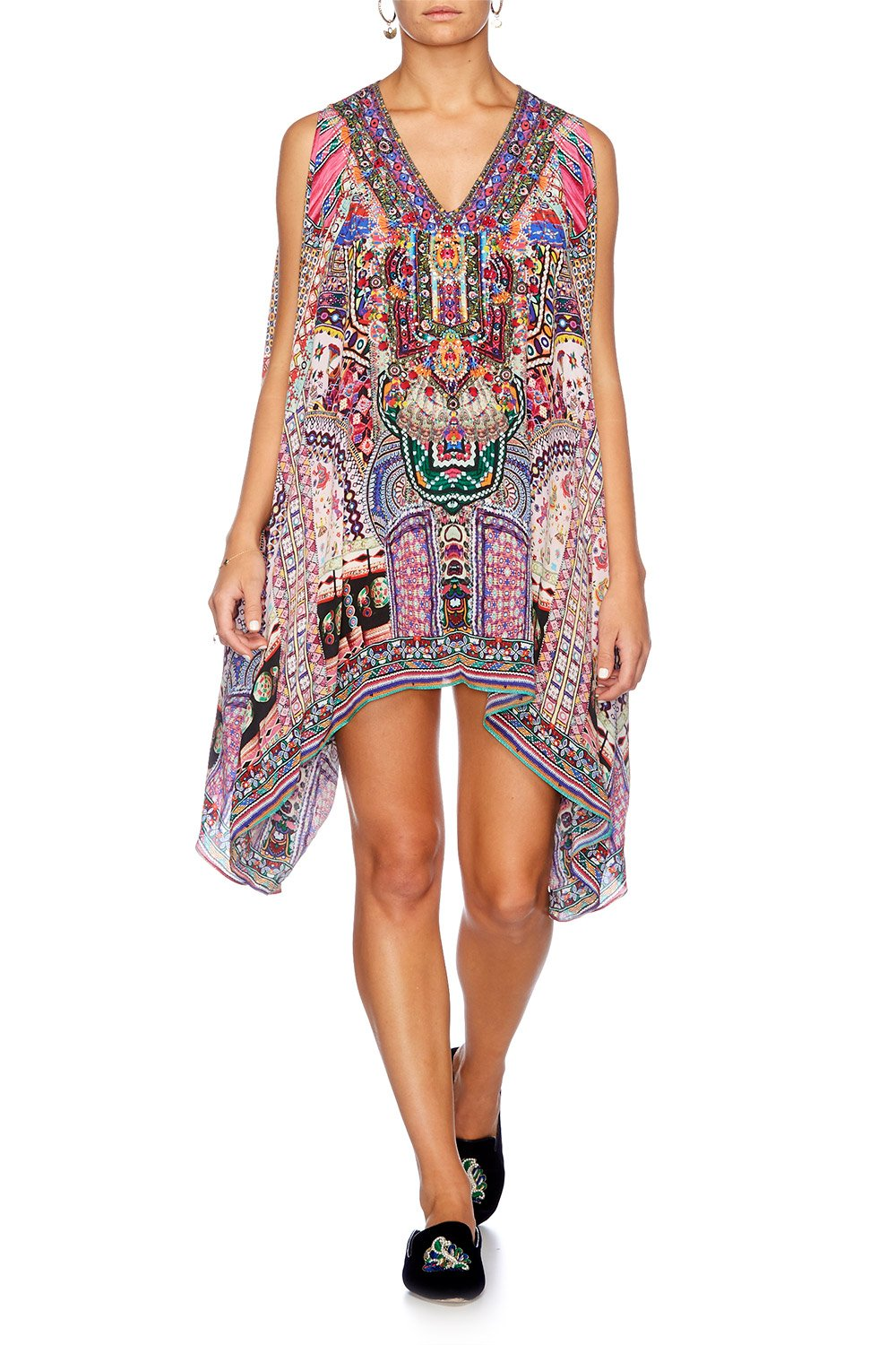 KALBELIA QUEEN SPLIT SHOULDER SHORT KAFTAN