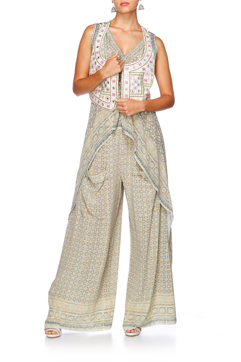 THREADED UNION WIDE LEG TROUSER