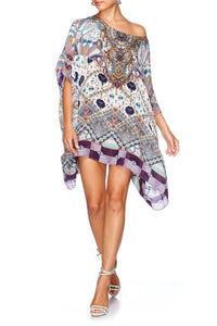 TALES OF TATIANA SHORT ROUND NECK KAFTAN