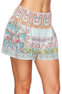 SISTERS OF THE MARIGOLD SHORTS W SIDE FLOUNCE