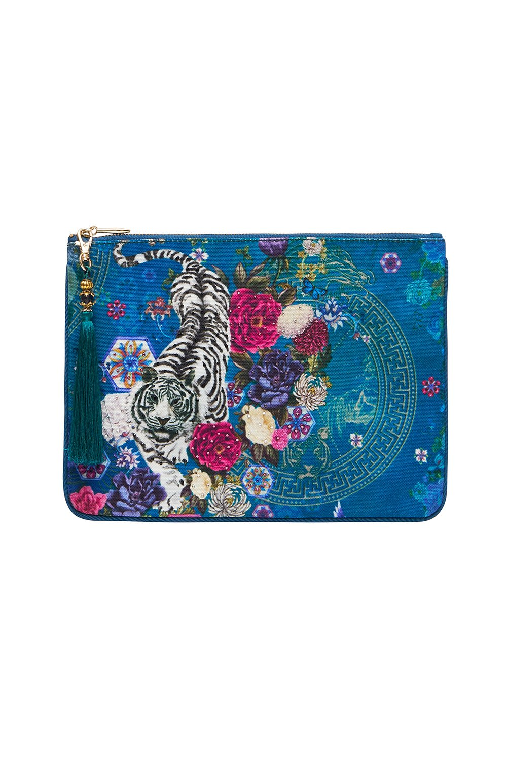 SMALL CANVAS CLUTCH LUNAR GAZING