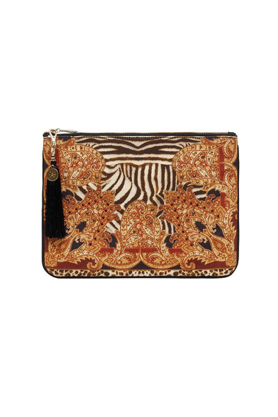 SMALL CANVAS CLUTCH WILD FIRE