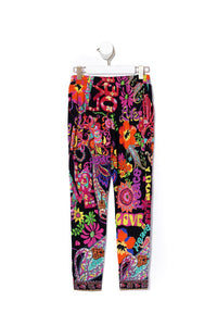 KIDS HAREM PANTS PEACE LOVE AND HAIR