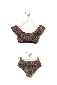 KIDS FRILL CROP BIKINI 12-14 POETIC ANARCHY