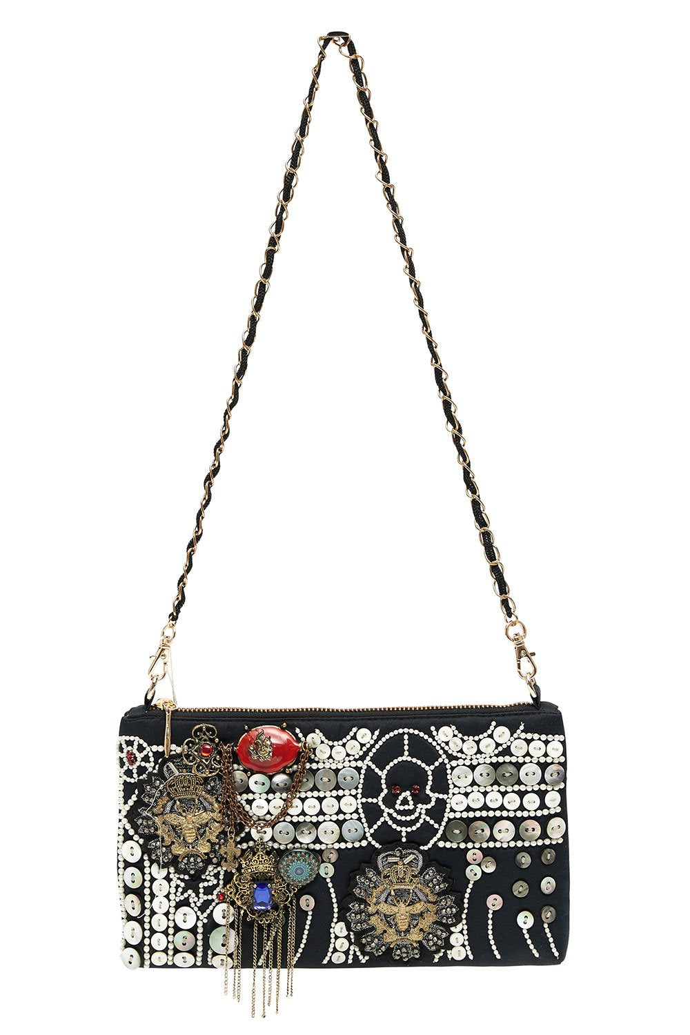 EMBELLISHED SATIN MINI BAG SID THE KID