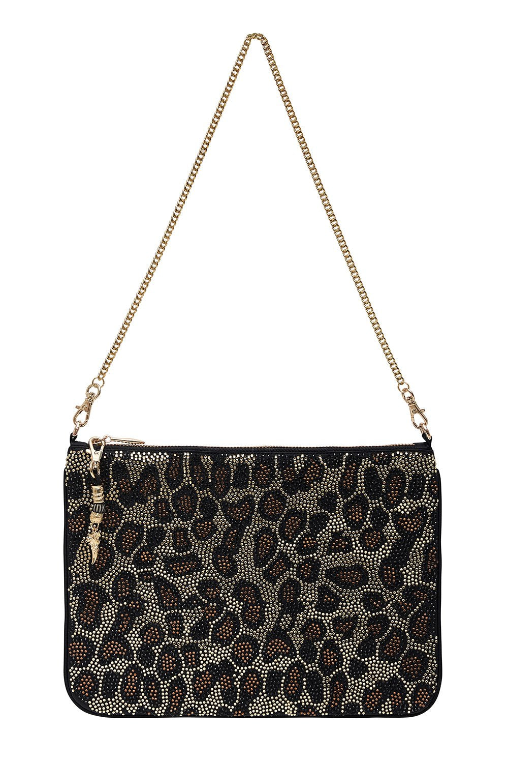 ZIP TOP CLUTCH WITH CHAIN MULTI