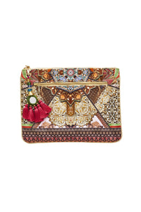 SOUL SISTERS SMALL CANVAS CLUTCH