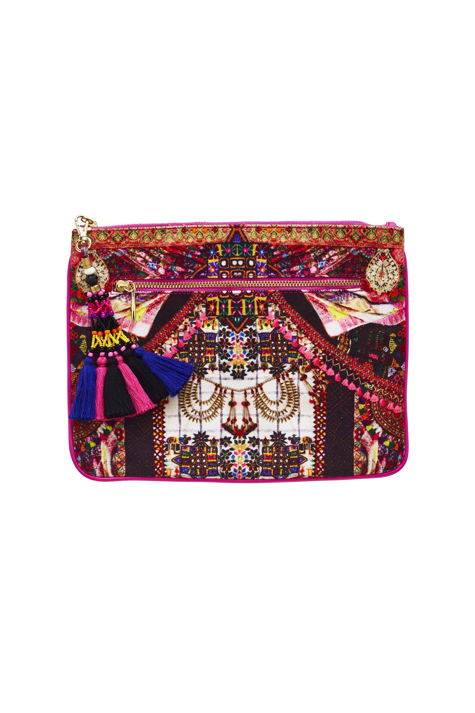 TINY DANCER SMALL CANVAS CLUTCH