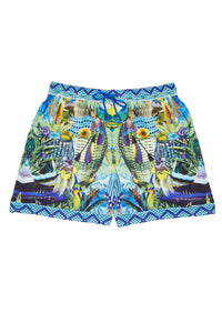 MEN'S ELASTIC WAIST BOARDSHORT AMAZON AZURE