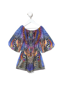 KIDS 3/4 FLARE SLEEVE PLAYSUIT LOVE ON THE WING
