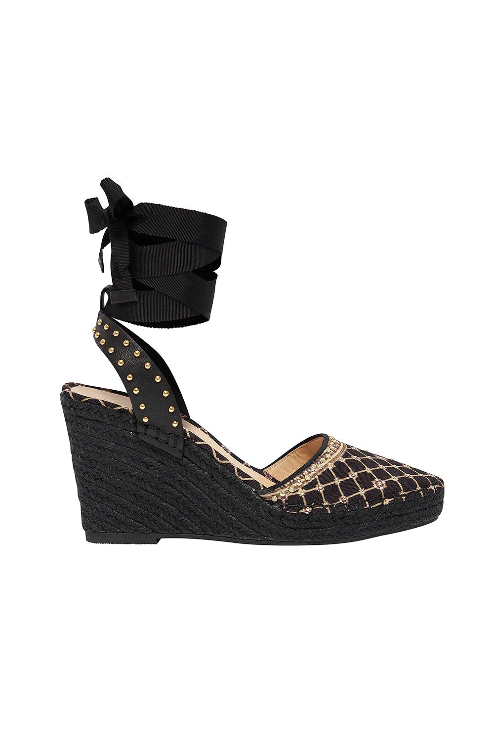 ESPADRILLE WEDGE WITH GROSGRAIN TIE MONTAGUES CAPULET