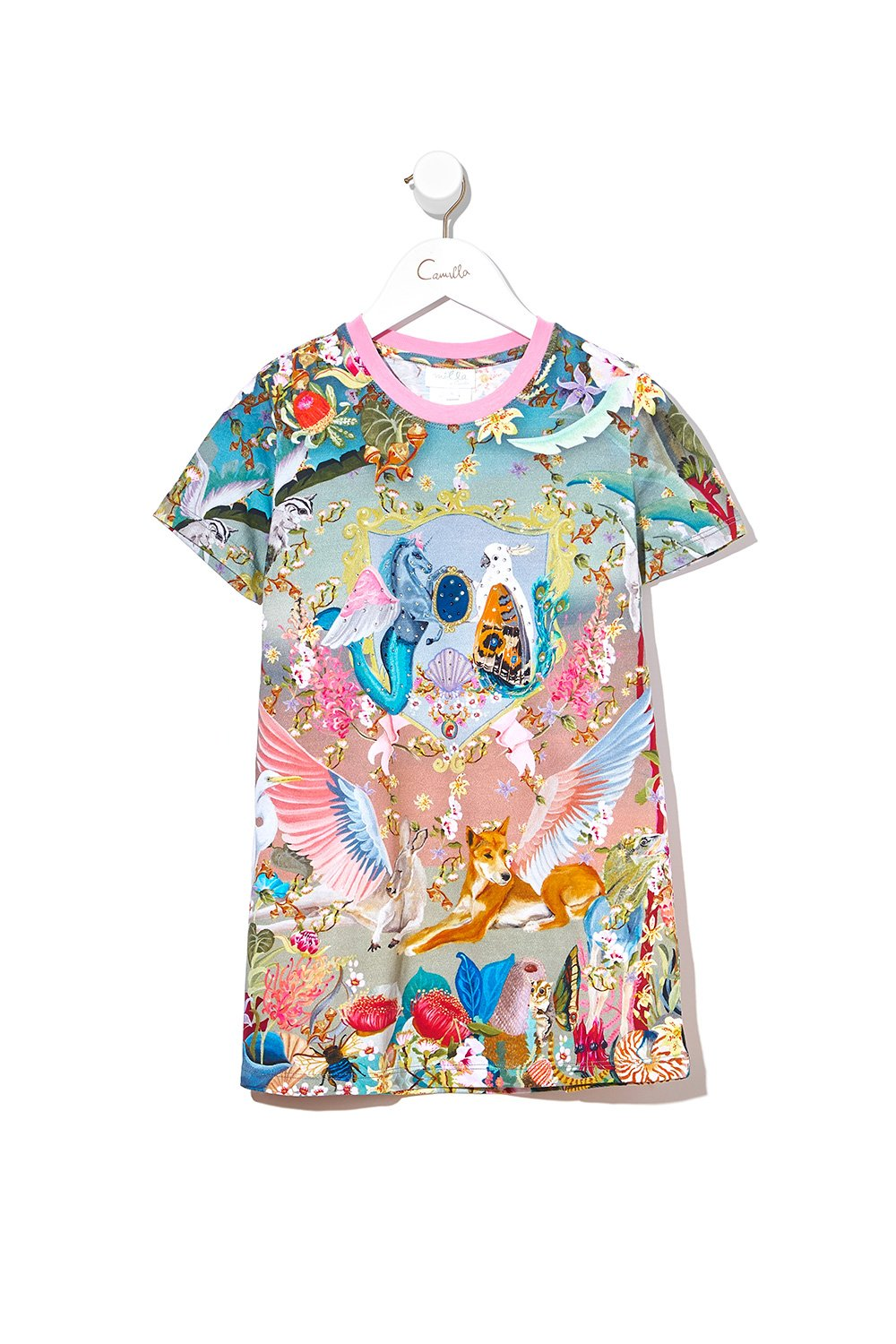 KIDS TSHIRT DRESS LETS TAKE A TRIP