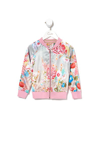 KIDS REVERSIBLE BOMBER JACKET OVER THE RAINBOW