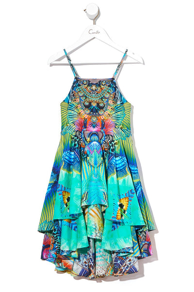KIDS TIERED DRESS REEF WARRIOR