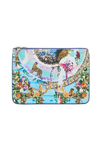 SMALL CANVAS CLUTCH GIRL FROM ST TROPEZ