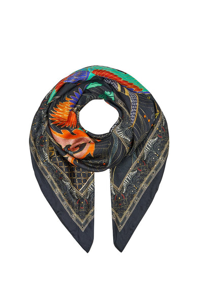 LARGE SQUARE SCARF WISE WINGS