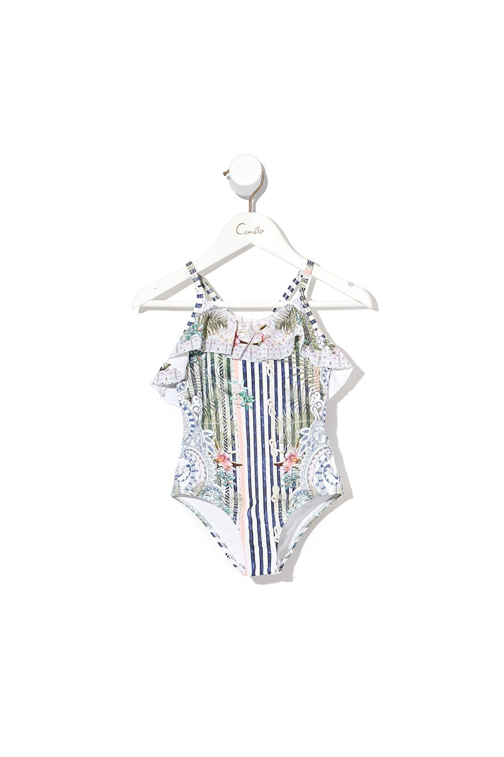 INFANTS NECK FRILL ONE PIECE BEACH SHACK