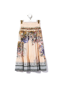 KIDS SHIRRED WAIST MAXI SKIRT KINDRED SKIES
