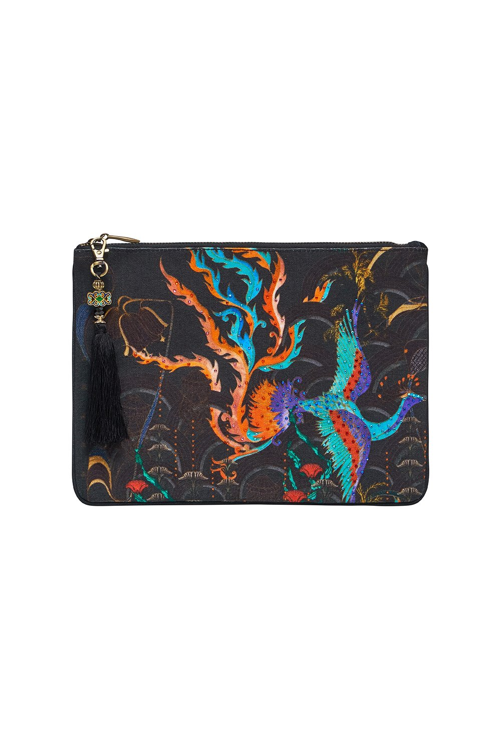 SMALL CANVAS CLUTCH WISE WINGS