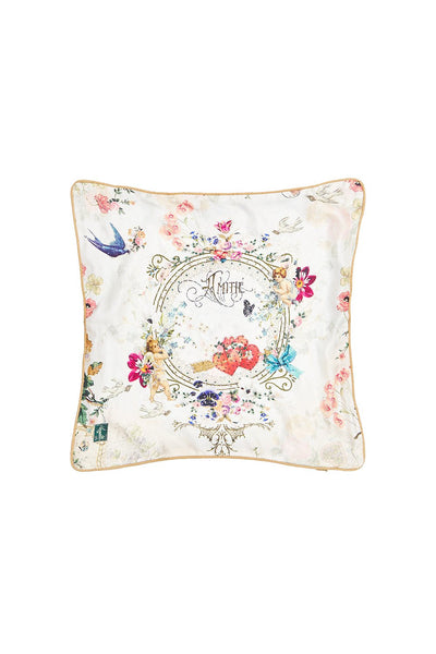 SMALL SQUARE CUSHION JARDIN POSTCARDS