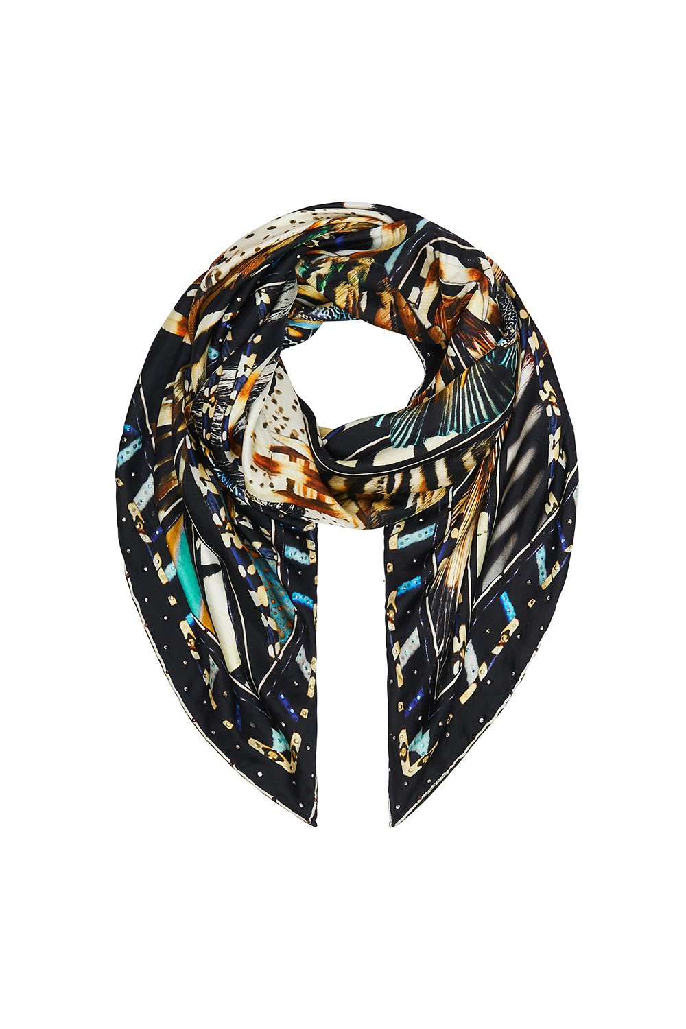 LARGE SQUARE SCARF LOST PARADISE