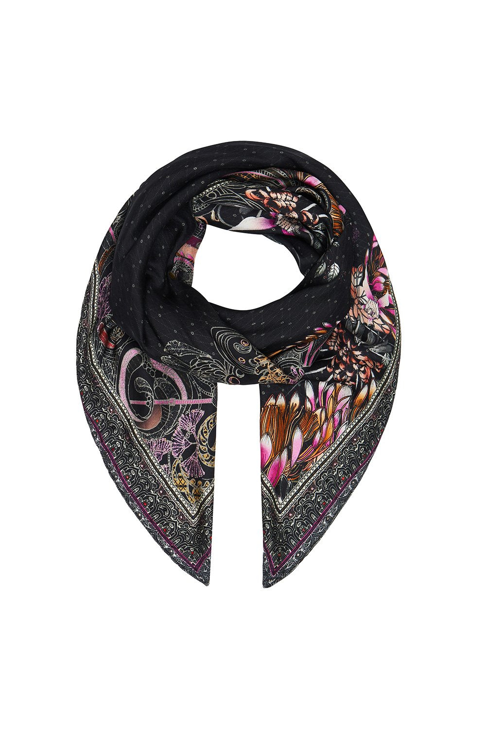 LARGE SQUARE SCARF RESTLESS NIGHTS
