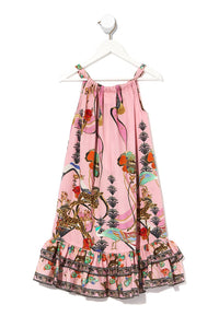 KIDS FRILL HEM TIERED DRESS ZIBA ZIBA