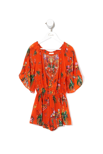 KIDS 3/4 FLARE SLEEVE PLAYSUIT PARADISE CIRCUS