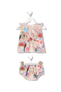 BABIES TOP AND BLOOMER SET LITTLE LAMINGTON