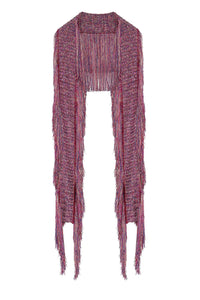 CROCHET KNIT SCARF WITH TASSELS TANAMI ROAD