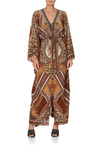 SPLIT HEM LACE UP KAFTAN LADY LODGE