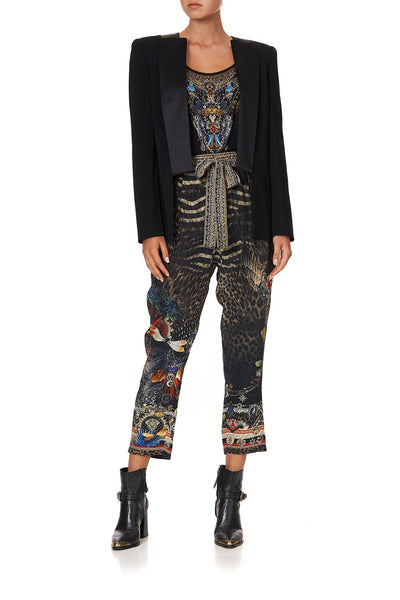 DROP CROTCH SLIM LEG PANT TREASURE CHASER