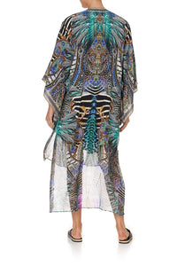 KIMONO WITH LONG UNDERLAYER ANIMAL ARMY