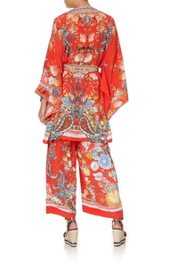 KIMONO WITH TIE BELT PAISLEY IN PATCHES