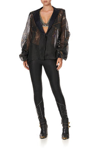 RUCHED SLEEVE BLAZER PUNK OF PRIMROSE