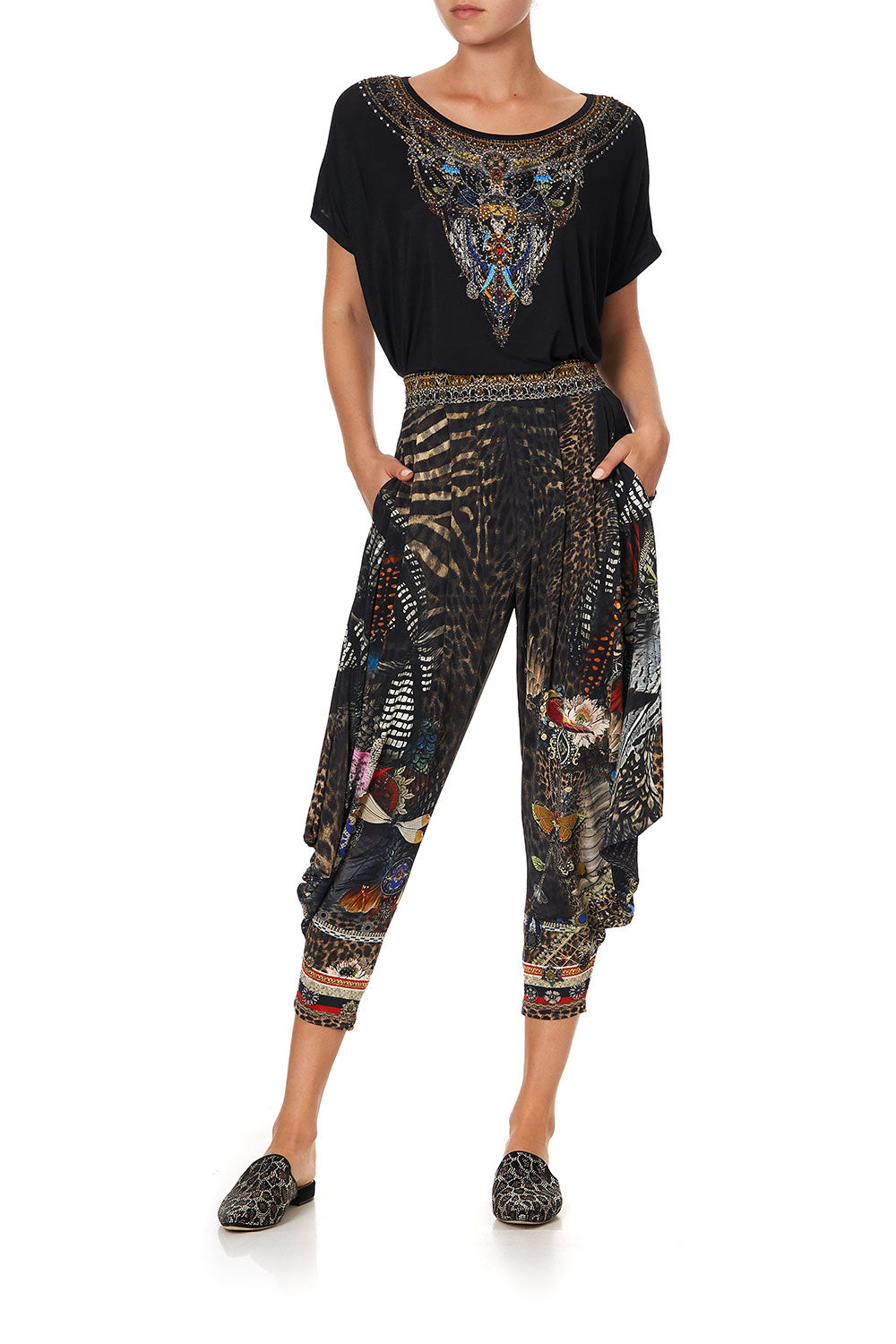JERSEY DRAPE PANT WITH POCKET TREASURE CHASER