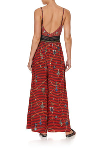 WIDE LEG TROUSER WITH FRONT POCKETS QUEENS CHILDREN