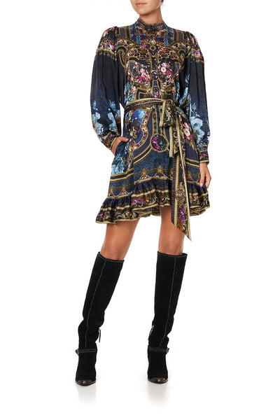 DROP SLEEVE SHIRT DRESS FIELDS OF TREASURE