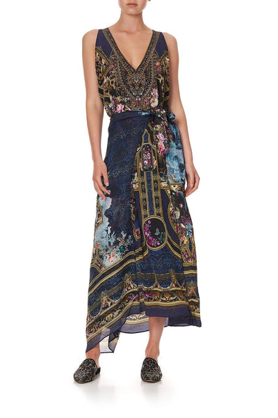 TIE FRONT MULTIWEAR DRESS FIELDS OF TREASURE