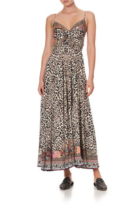 LONG DRESS WITH TIE FRONT WILD CHILD