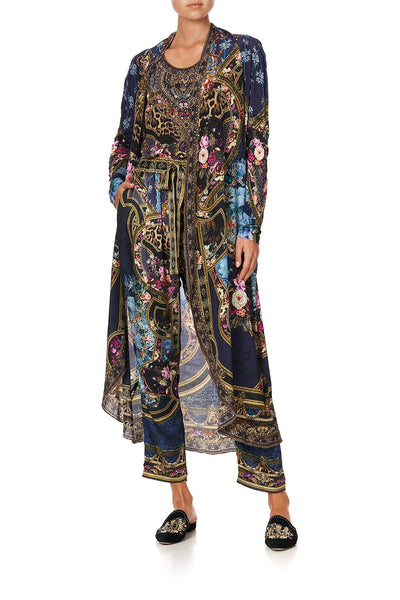 LONG CASUAL JACKET WITH POCKETS FIELDS OF TREASURE