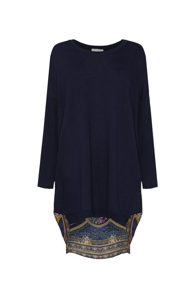 LONG SLEEVE JUMPER WITH PRINT BACK FIELDS OF TREASURE
