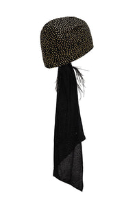 SIDE HEAD SCARF SOLID BLACK