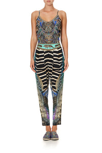 HAREM PANTS WITH FRONT PLEATS ANIMAL ARMY