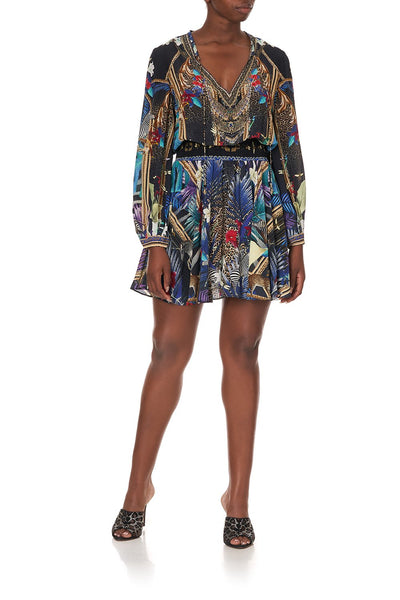 SHIRRED RELAXED SHORT DRESS RAINBOW ROOM