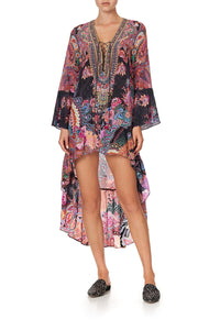 SHORT DRESS WITH HIGH LOW HEM SWINGING SIXTIES