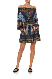 OFF SHOULDER SHORT DRESS FIELDS OF TREASURE